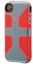 Authentic Speck Candyshell GRIP iPhone 4/4s - Nickel Grey/Warning Orange