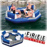 Inflatable Island Lake Raft Pool Float Ocean Huge Water Party Lounge Floating