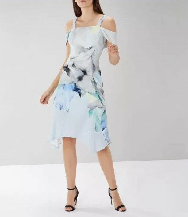 Gorgeous NEW COAST COAST COAST (Dimensione 12 Uk) Mace Print Soft Shift Dress, Multi e8bb79