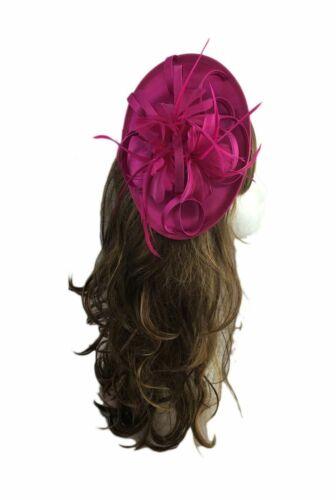 Ladies Satin Flower Wedding Hat Fascinator Royal Ascot Clip Headband UK