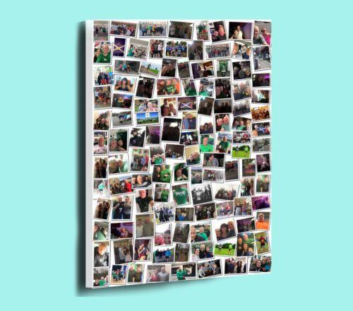 AMAZING PERSONALISED RANDOM PHOTO COLLAGE MONTAGE BOX FRAMED CANVAS PRINT