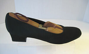 Trotters-Womens-Black-Fabric-Low-Heel-Pumps-Size-9-1-2-S