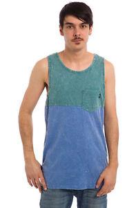 Détails sur VANS Off The Wall Starstruck Débardeur HOMME L LG Vert Bleu Poche T Shirt