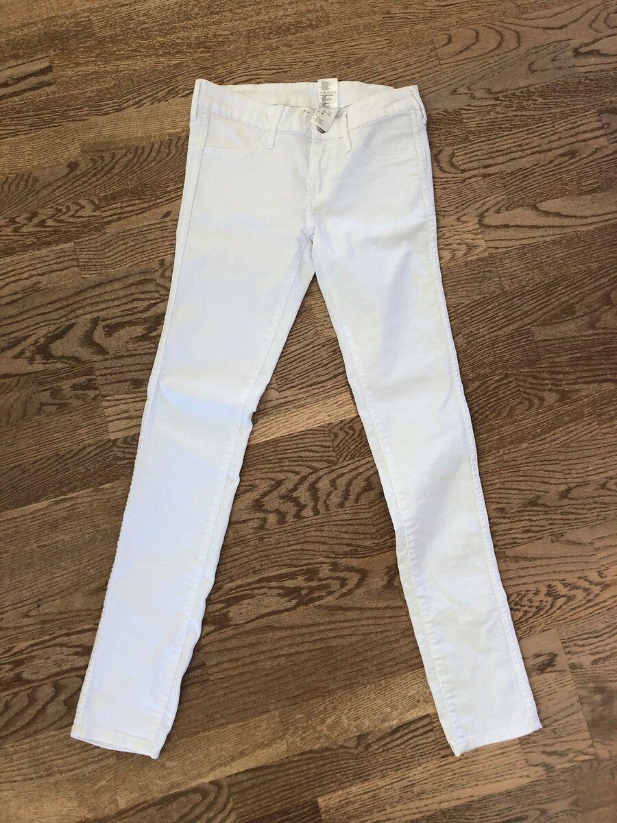 Bukser, H&M, str. 26, Hvid, Næsten som ny, Er brugt 2 g