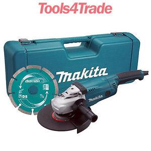 Makita-GA9020KD-240V-9-034-230mm-Angle-Grinder-Case-amp-Diamond-Wheel-GA9020