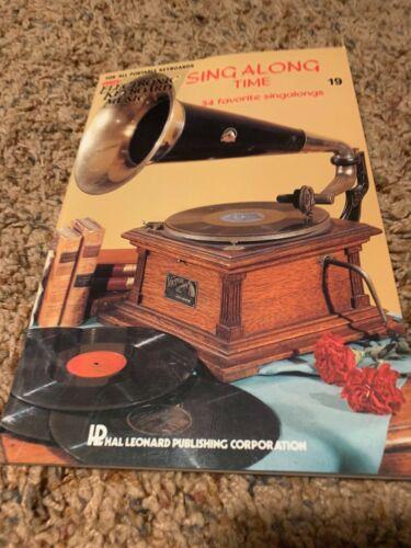 Sing Along Time easy electronic keyboard music Hal Leonard HL00243690