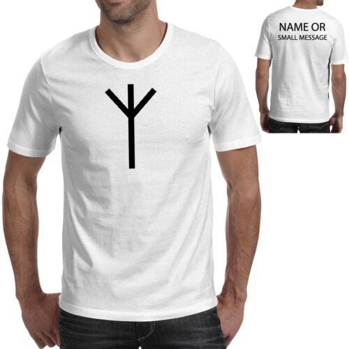 Algiz Rune Inspired Vikings Ideal Fan Gift Futhark Tee Mens Printed T-Shirt