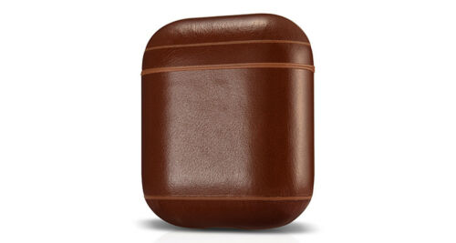 Handmade Genuine Leather Shock Proof Protective Cover for Apple Airpods w// Clip