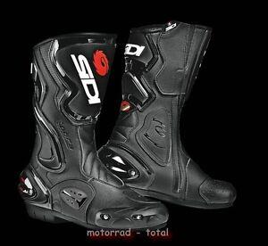 NEU-SIDI-Motorradstiefel-Cobra-schwarz-Gr-44-Racing-Motorrad-Stiefel-NEW