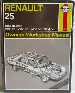 Haynes-Renault-25-1984-to-1986-Owners-Workshop-Manual-Used