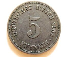 Old Germany Coin 1900 A 5 Pfennig Circulated