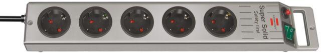 5 Fach Steckdose Steckerleiste Steckdosenleiste Super Solid Leiste brennenstuhl