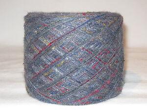 Wolle-100gr-3-super-weiches-034-mausgrau-bunt-034-meliertes-Merino