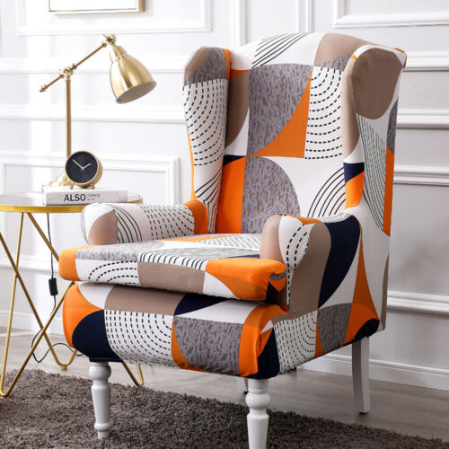 Stretch Wing Chair Cover Slipcover Wingback Armchair Protector Furniture