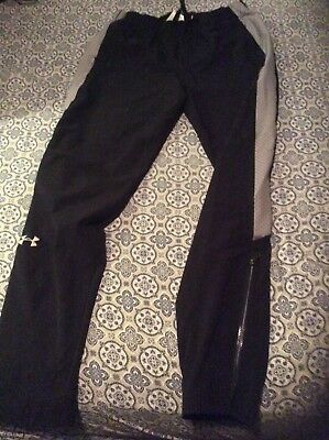 Activewear Bottoms Under Armour Mens Unlined Track Pants Black S Training Run Warmup