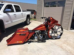 Image Is Loading 2008 Earlier Harley Stretched Saddlebags And Rear Fender