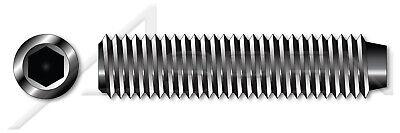 #10-32 X 3//4 UNF Fine Thread Cup Point Alloy Steel 100 pcs Made in U.S.A. Hex Socket Set Screws