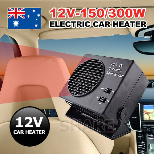 DC 12V 150/300W Ceramic Car Fan Electric Heater Warmer Window Defroster Demister
