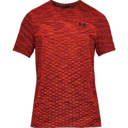 UA Under Armour Vanish Seamless SS Novelty t shirt S M L XL burnt orange RRP £36