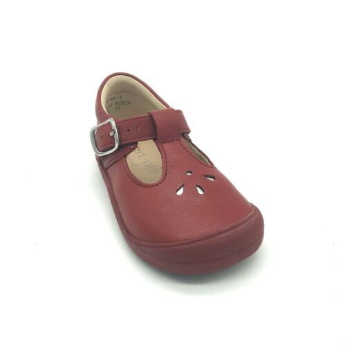 Start-rite First Evy Girls/' First Shoes Red Leather 50/% OFF RRP