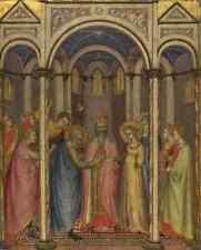 Gregorio Di Cecco Di Luca The Marriage Of The Virgin A4 Print