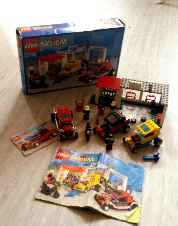 Lego 6561 - Hot Rod Club Dragster Tuning Shop + Lego 6538 Car - 2x OVP - Retro