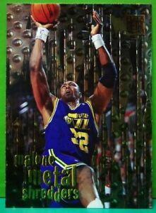 Karl Malone subset card Metal Shredders 1996-97 Fleer Metal #141