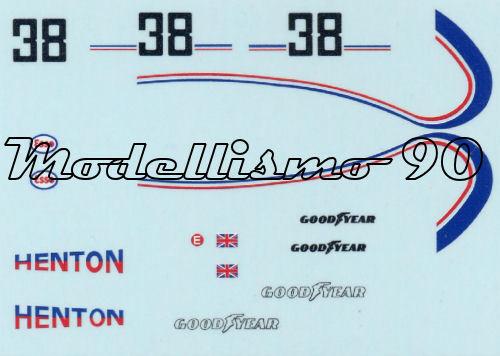 Decal sheet 1//43 March 761B F.1 Ford #38 Austrian GP 1977 Brian Henton NEW