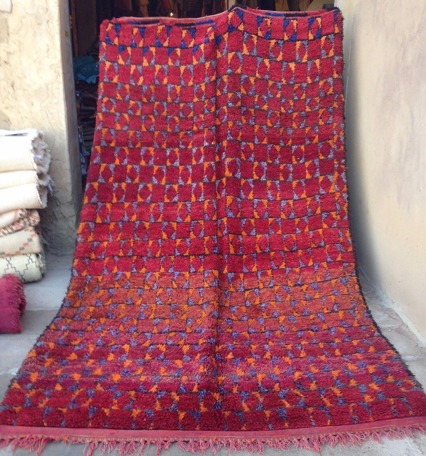 Alfombra De Lana marroquí Beni mguild tribal 350 X 205cm