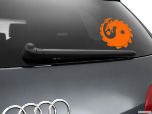 Yin-Yang-Dragon-Car-Sticker-Window-Styling-Decal-Orange