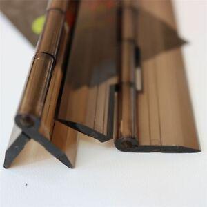 3x-Acryl-Scharnier-300mm-Rauchschwarz-Scharniere-Bestaendige-Kunststoff