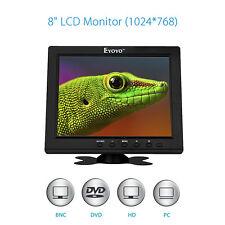 "Portable 8"" TFT LCD 1024*768 Digital  Monitor Screen VGA BNC Video HDMI For CCTV"