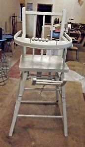 Ancienne-chaise-bebe-Bouillie-Dinette-Fauteuil-France-Old-baby-chair-Boiled