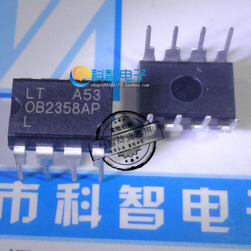 10 x OB2358AP DIP-8 MOSFET current mode PWM controller