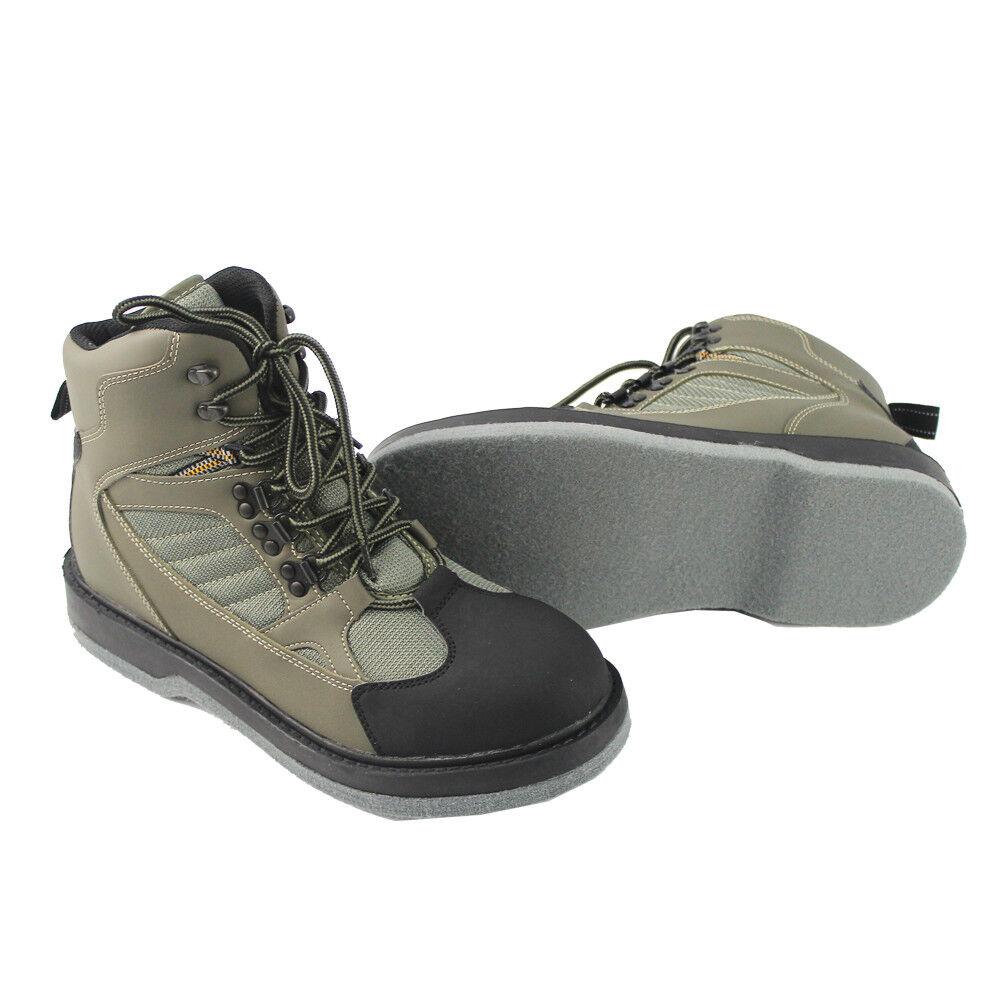 Kylebooker Breathable Waterproof Fishing Antislip Wading Waders Felt Soles Boots