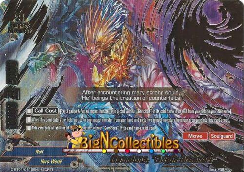"Secret Buddyfight 1x D-BT04//0115EN Gemclone /""Origin Breaker!/"""