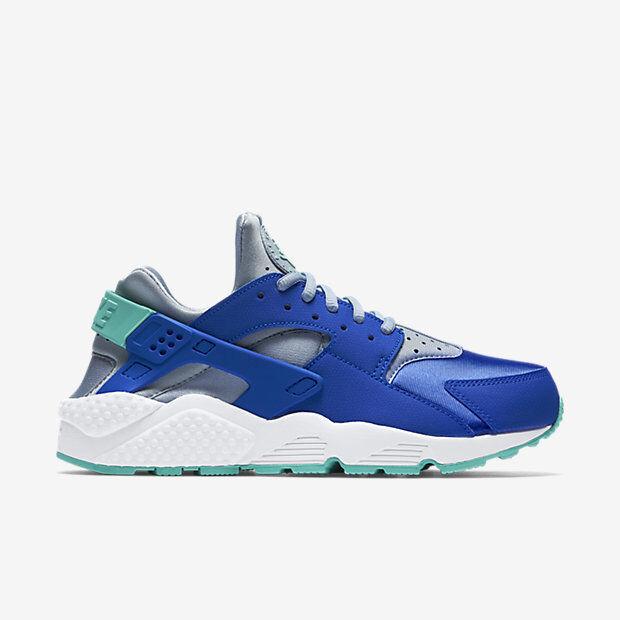 634835-404 Women's Nike Air Huarache Shoe   RACER BLUE/BLUE GREY/HYPER TURQUOISE