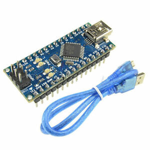 Nano-V3-0-Mini-USB-ATmega328-16M-5V-Micro-controller-Board-CH340G-Arduino-Cable