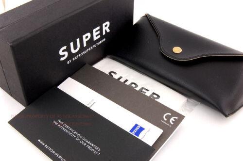 New SUPER by RETROSUPERFUTURE sunglasses Flat Top Imero 46T//R Black Lens byZeiss