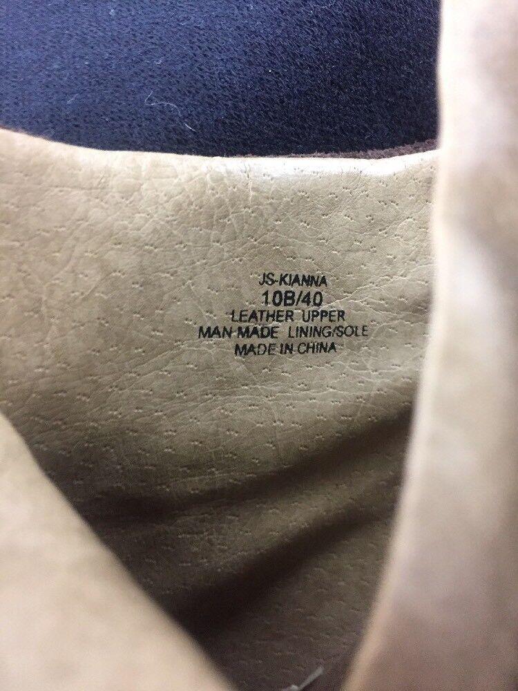 "Jessica Simpson Kianna Suede  Braun  Ankle Stiefel  Suede sz10B Heel 4.5"" a5f1ab"