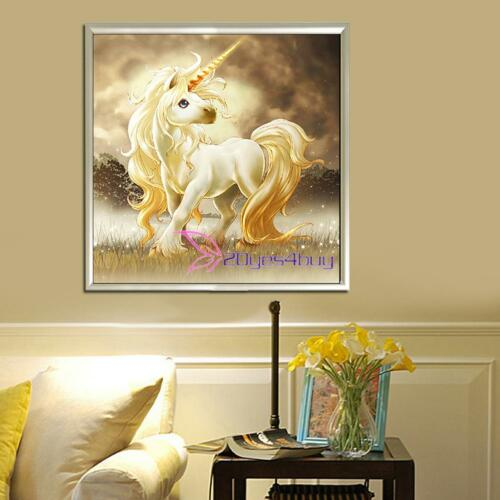 Full Drill Unicorn 5D Diamond Embroidery Painting Cross Stitch Craft Home Decor