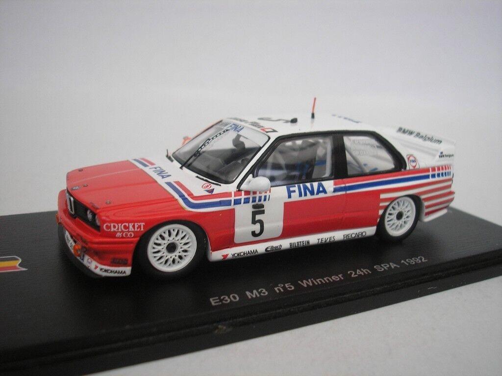 BMW M3 E30 hrs Spa 1992 J.M.Martin 1 43 Spark SB069 NEW