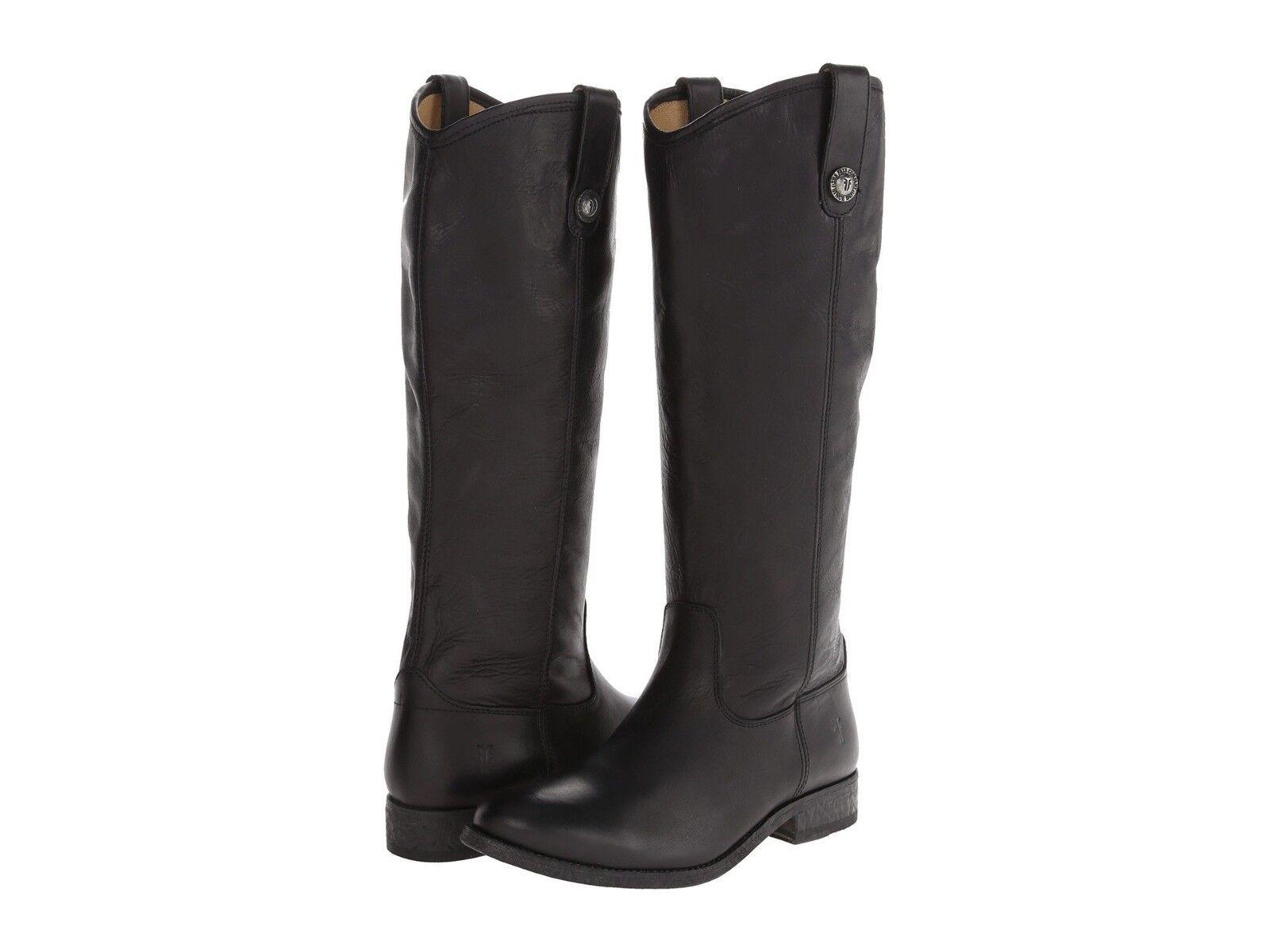 New Frye Melissa Button Black sz Leather Tall Riding Boot, sz Black 8 $368 ed6b35
