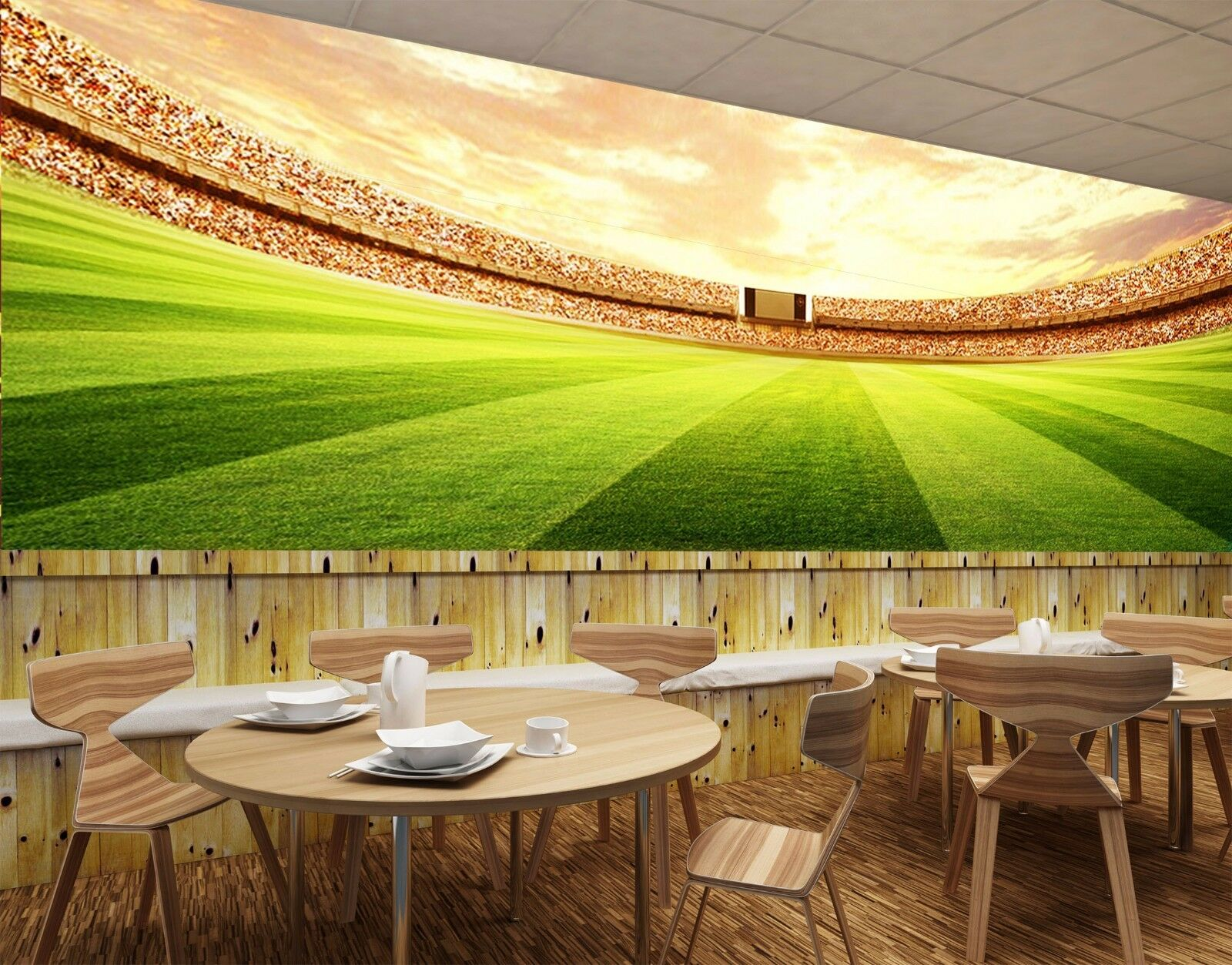 3D Large Stadium 498 WallPaper Murals Wall Print Decal Wall Deco AJ WALLPAPER