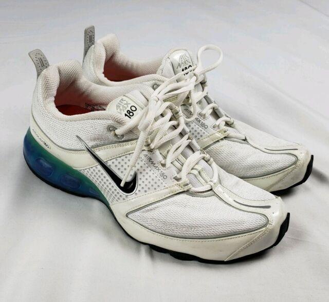 Nike Men's Sz 11 Air Max 180 Retro 2006 Running Sneaker White Black 314017 102
