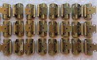 12 Pair (24 Hinges) Partial Wrap Self Closing Cabinet Hinge 1/2 Overlay
