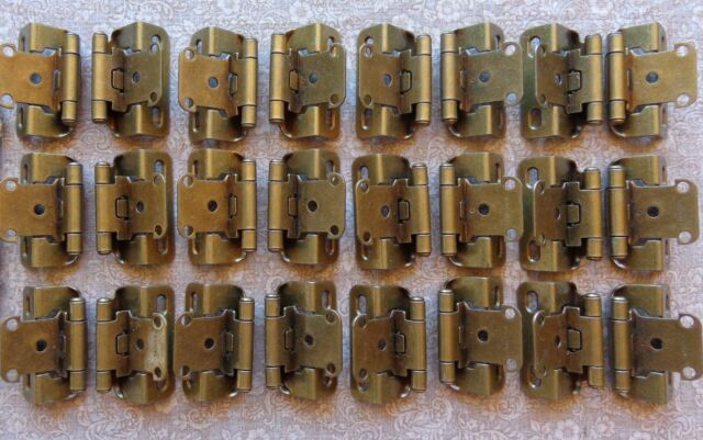 6 Pair Partial Wrap Self Closing Cabinet Hinge 3//8 Inset 3//8 Overlay 12 Hinges