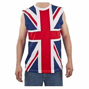 f5d7097b90bbb2 Heren  kleding NEW British Flag Union Jack TANK TOP vintage UK flag  sleeveless tee