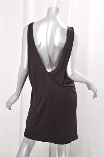 Back Ermeløs Stretch Draped Dress Short Open 1 Womens Azrouel Yigal Brown nq1wfApAF0