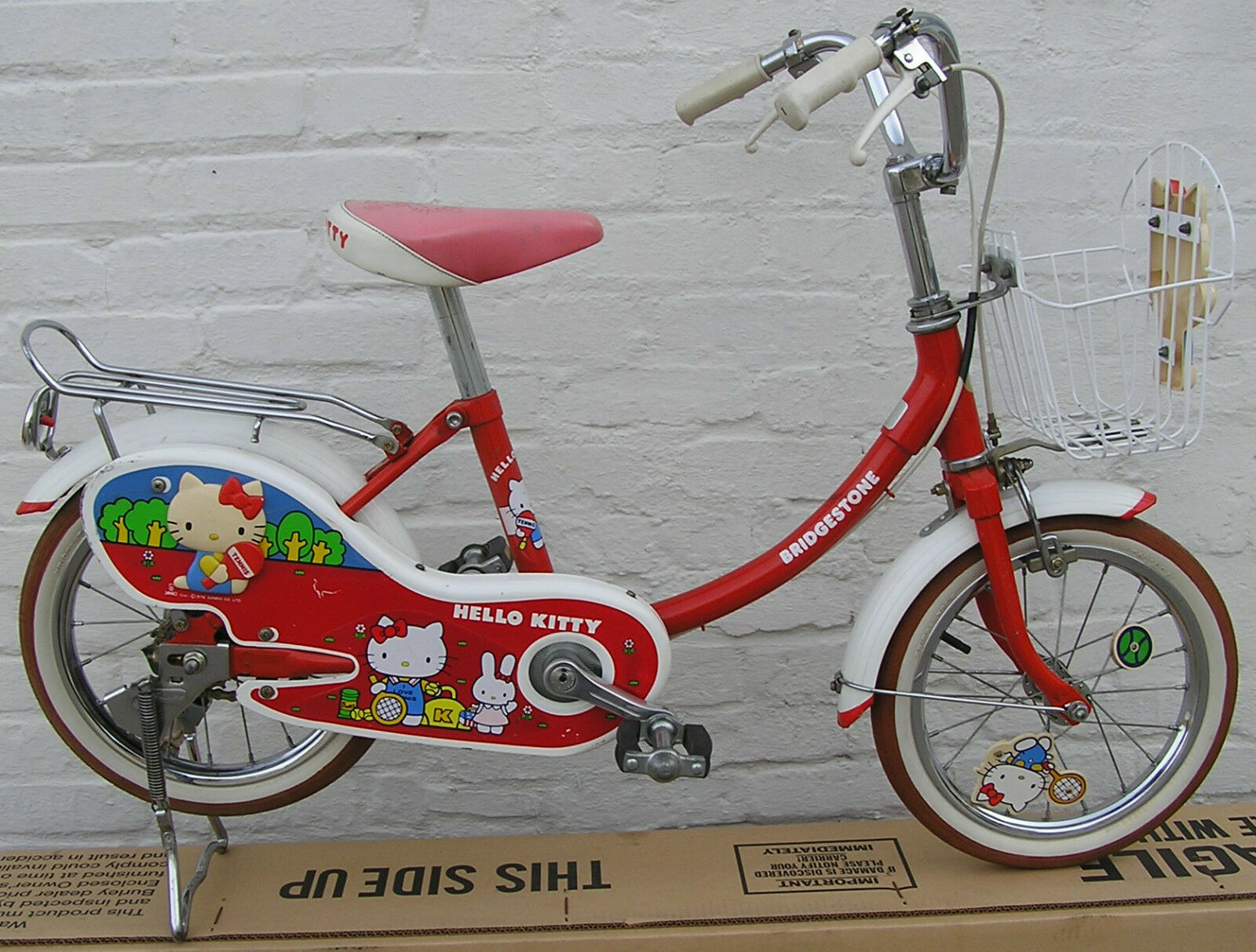 Bridgestone Hello  Kitty 14 wheel Campagnolo Phil Wood  ld's Bicycle '76 tennis  happy shopping